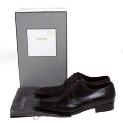 Tom Ford Dark Brown Brogue Leather Edgar Oxford Size 43.5