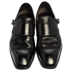 Tom Ford Black Leather Buckle Loafer Size  44.5