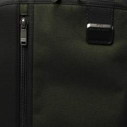 TUMI Metallic Ombre Green/Black Mesh and Nylon Merge International Expandable Carry On Trolley Suitcase