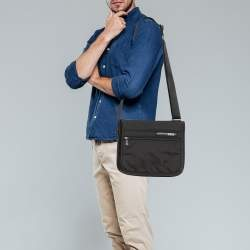 Tumi Black Nylon Small DFO Flap Messenger Bag