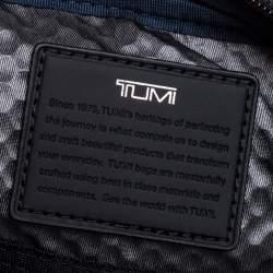 TUMI Black Leather Alpha Bravo Arnold Zip Flap Messenger Bag