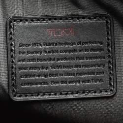 Tumi Black Nylon and Leather Companion Tote