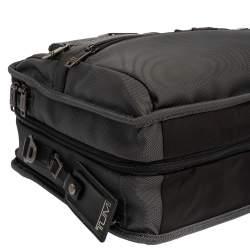 TUMI Grey/Black Nylon and Leather Expandable Organizer Computer Briefcase