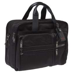 TUMI Black Nylon Gen 4.2 Expandable Organizer Laptop Briefcase