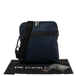 TUMI Navy Blue/Black Nylon Freeland Double Zip Crossbody Bag