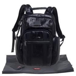 TUMI Black Leather Nellis Backpack