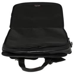 TUMI Black Leather Gen 4.2 T-Pass Expandable Laptop Briefcase