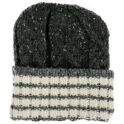 Thom Browne Grey and Ivory Cable Knit Wool Mohair Blend Beanie