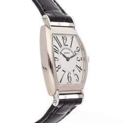 Vacheron Constantin Silver 18K White Gold Les Historiques 1912 37001/000G-8636 Men's Wristwatch 36 x 30 MM