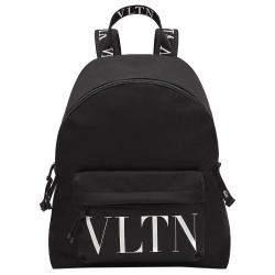 Valentino Garavani Black Nylon Vltn Backpack Bag