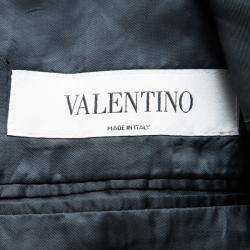 Valentino Grey Wool Tailored Two Button Blazer XXL