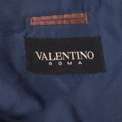 Valentino Navy Blue Wool Super 140's Tailored Blazer XXXL