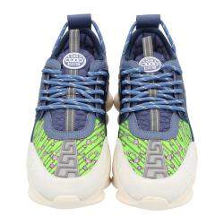 Versace Multicolor Chain Reaction Baroque Print Sneakers Size 39