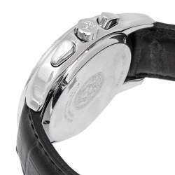 Versace Black Stainless Steel Leather ULC99 Men's Wristwatch 39 mm