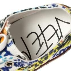 Vetements Multicolor Graffiti Canvas Low Top Lace Up Sneakers Size 41