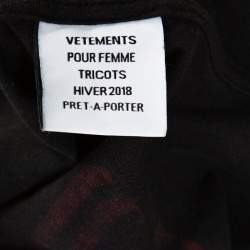Vetements Black Printed Cotton Jersey Hooded Sweatshirt XS