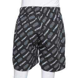 Vetements X Star Wars Black Logo Print Cotton Shorts M