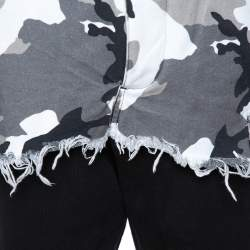 Vetements Black Cotton Camo Print Overlay Jogger Pants M