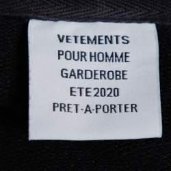 Vetements Black Knit Russian Police Zipper Front Hoodie L