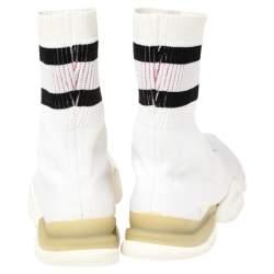 Vetements x Reebok White Sock Runner High Top Sock Sneakers Size 44.5