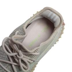 Yeezy x Adidas Pale Green Cotton Knit Boost 350 V2 Citrin Non Reflective Sneakers Size 42 2/3