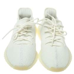 Yeezy x Adidas Cotton Knit Boost 350 V2 Triple White Sneakers Size 42 2/3
