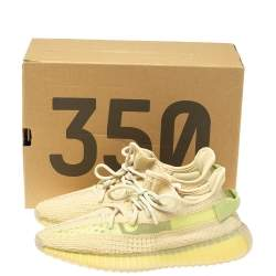 Yeezy x Adidas Boost 350 V2 Cotton Knit Flax Sneakers Size 41 1/3