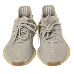 Yeezy x Adidas Green Sesame Cotton Knit Boost 350 V2 Sneakers Size 36.5
