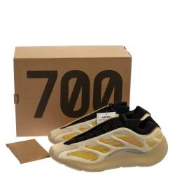 Yeezy x adidas Beige/Yellow Polyurethane And Mesh 700 V3 Safflower Sneakers Size 46