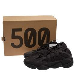Yeezy x adidas Black Mesh And Suede Leather 500 Desert Rat Sneakers Size 47 1/3