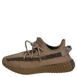 Yeezy x adidas Brown Knit Fabric Boost 350 Earth Low Top Sneakers Size 40 2/3