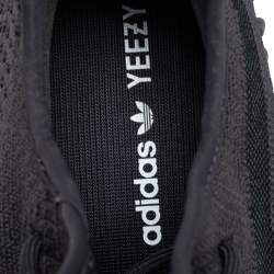 Yeezy x Adidas Dark Grey Knit Fabric Boost 350 V2 Cinder Sneakers Size 44 2/3