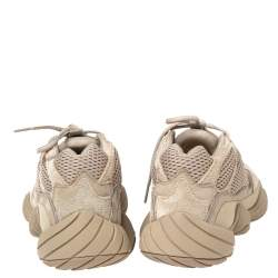 Yeezy x Adidas Beige Mesh And Suede 500 Taupe Light Sneakers Size 42 2/3