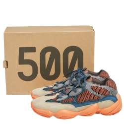Yeezy x Adidas Multicolor Mesh And Suede 500 Enflame Sneakers Size 44