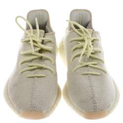 Yeezy x Adidas Yellow Cotton Knit Boost 350 V2 Sneakers Size 46