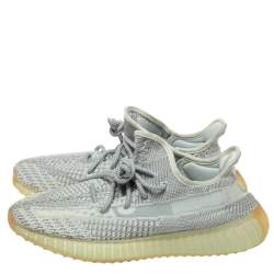 Yeezy x Adidas Grey Cotton Knit 350 V2 Yeshaya Reflective Sneakers Size 42.5
