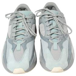 Yeezy x adidas Grey/Blue Mesh And Suede Boost 700 V2 Inertia Sneakers Size 44