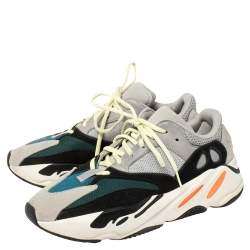 Yeezy x adidas Multicolor Mesh And Suede Boost 700 Wave Runner Sneakers Size 44