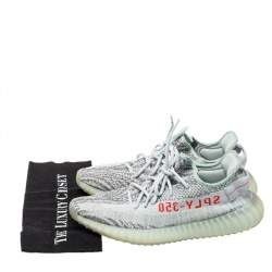 Yeezy x Adidas Light Blue Cotton Knit Boost 350 V2 Blue Tint Sneakers Size 44