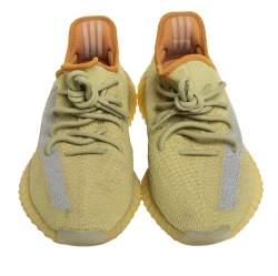Yeezy x adidas Green Knit Fabric Boost 350 V2 Marsh Sneakers Size 42