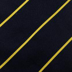 Yves Saint Laurent Vintage Navy Blue and Yellow Striped Silk Tie