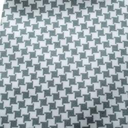 Yves Saint Laurent Grey and White Houndstooth Print Silk Tie