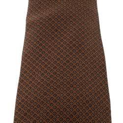 Yves Saint Laurent Vintage Brown Four Dot Pattern Silk Tie
