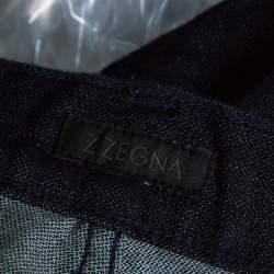 Z Zegna Indigo Dark Wash Denim Regular Fit Jeans L