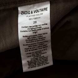Zadig and Voltaire Beige Denim Overdyed Jeans S
