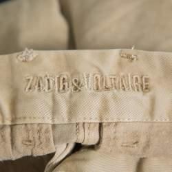 Zadig and Voltaire Beige Stretch Cotton Pomeriggio Trousers S
