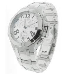 Concord Saratoga 14.C5.1892 Steel & White Rubber Chrono Watch