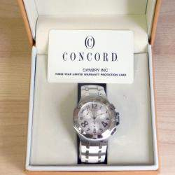 Concord Saratoga 14.C5.1892 Steel & White Rubber Chrono Watch