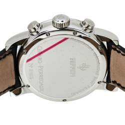 Girard Perregaux Yellow Stainless Steel Leather Ferrari Ref.8020 Chronograph Men's Wristwatch 38 mm
