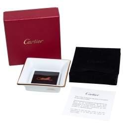 Cartier Porcelain Panthère de Cartier Trinket Tray